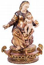 ESCUELA CASTELLANA, S. XVI Virgen con el Niño