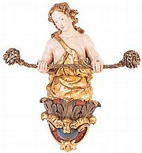 ESCUELA ANDALUZA, segunda mitad S. XVII Ménsula rematada en ángel