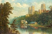WILSON HEPPLE, View of Durham Cathedral. Oil on canvas