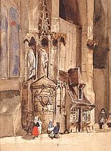 ENGLISH SCHOOL, 19TH CENTURY. Watercolor on paper