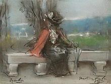 JOAQUÍN MARTÍNEZ DE LA VEGA 1846 Almería 1905 Dama en un banco