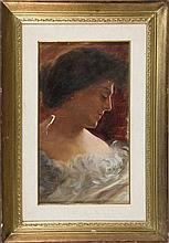SPANISH SCHOOL, 19TH CENTURY. A Lady´s Portrait. Oil on canvas