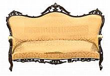 A MAHOGANY SOFA, MID-19TH CENTURY