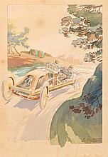 ERNEST MONTAUT 1879 Francia 1936 Coche de carreras