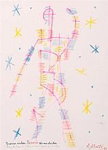 RAFAEL ALBERTI. Wax on paper