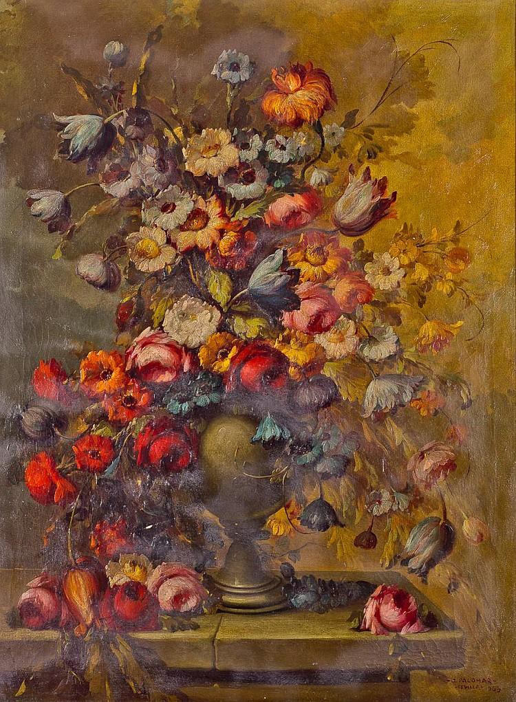 JOSÉ PALOMAR. Oil on canvas