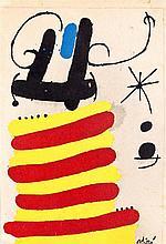 JOAN MIRÓ. Lithography