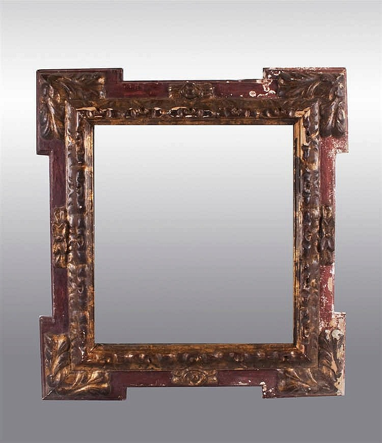 A baroque style giltwood wall mirror 20th century for Baroque style wall mirror