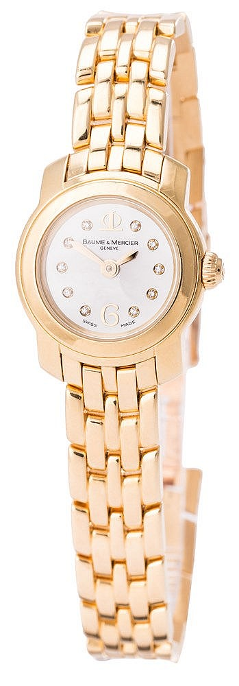 A LADY'S WRISTWATCH, BY BAUME & MERCIER
