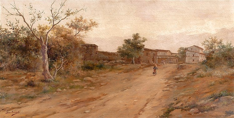 ANDRÉS SANDOVAL HUERTAS (SCHOOL OF MALAGA, 19TH CENTURY) - LANDSCAPES
