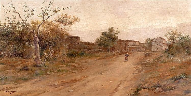 ANDRÉS SANDOVAL HUERTAS (SCHOOL OF MALAGA, 19TH CENTURY) - LANDSCAPES