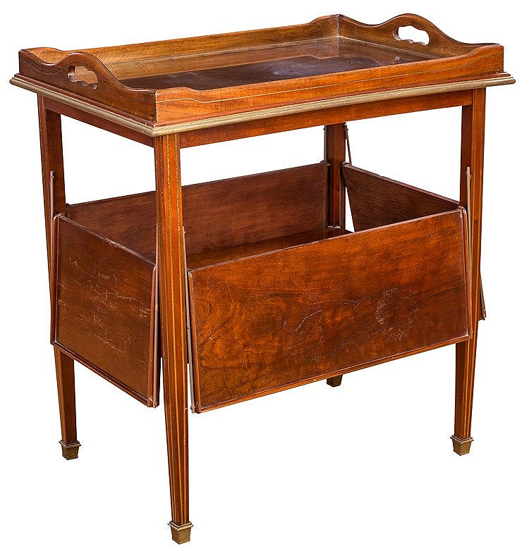 A MAHOGANY BAR, EARLY 20TH CENTURY