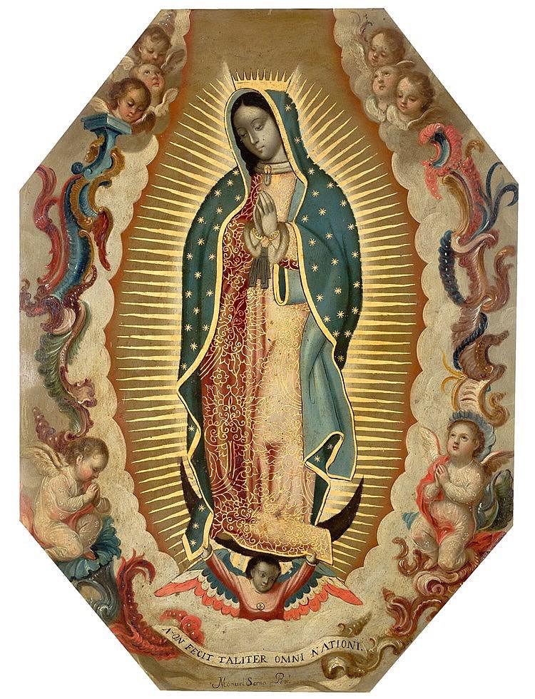MANUEL SERNA (MEXICO, 18TH CENTURY) - VIRGEN DE GUADALUPE