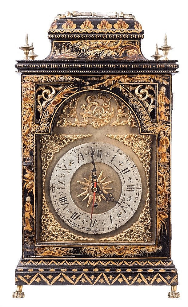 AN ENGLISH BRACKET CLOCK, EARLY 18TH CENTURY