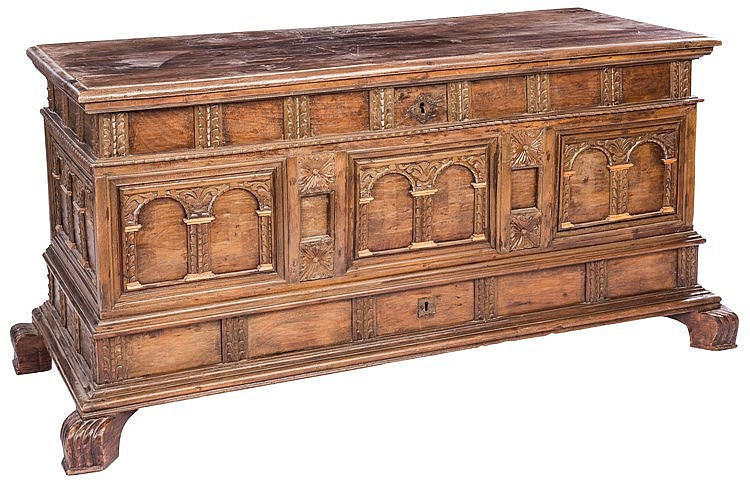 A CATALAN CHEST, 17TH CENTURY