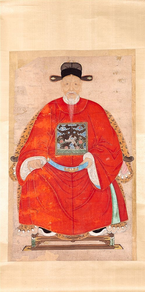 A PORTRAIT, CHINA, 18TH CENTURY, QIANLONG PERIOD.