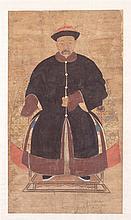 A PORTRAIT, CHINA, 18TH CENTURY, QIANLONG PERIOD.