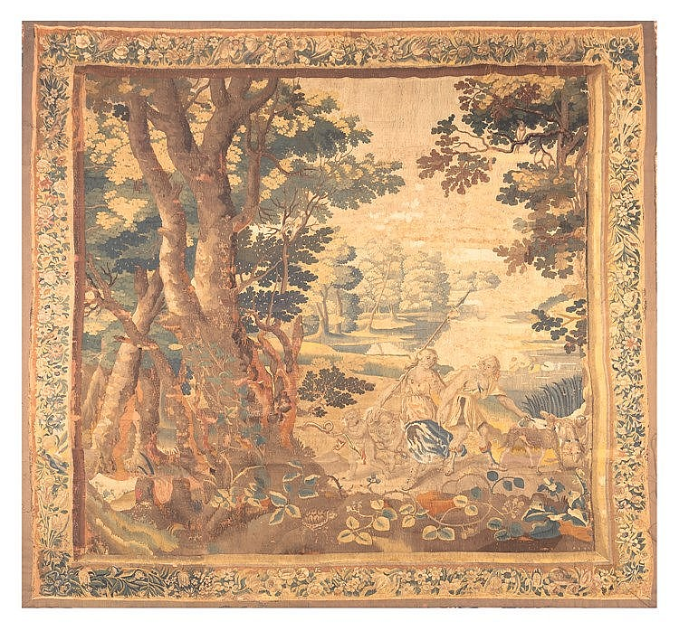 A FLEMISH WOOL TAPESTRY, SECOND HALF 17TH CENTURY