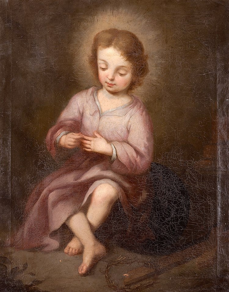 FOLLOWER OF BARTOLOME ESTEBAN MURILLO (1617-1682) CHILD OF THE THORN