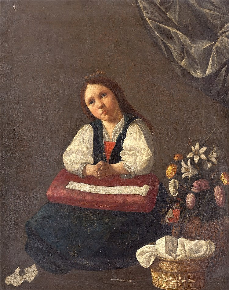 WORKSHOP OF FRANCISCO DE ZURBARAN (1598 - 1664) - VIRGEN NIÑA