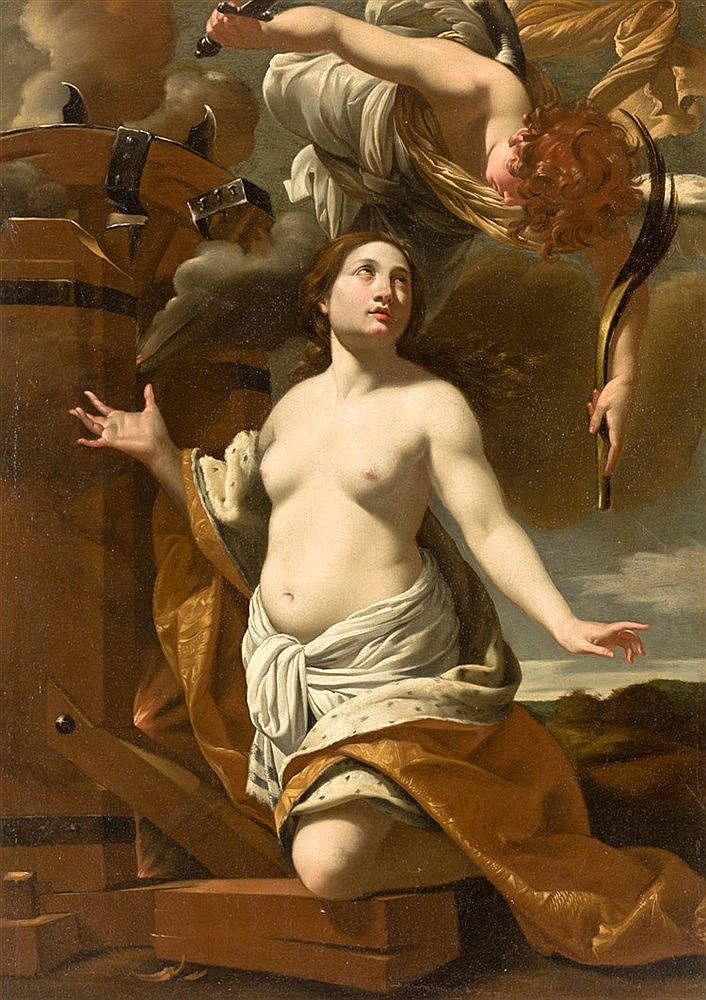 ATTRIBUTED TO SIMON VOUET (PARIS, 1590-1649) - MARTYRDOM OF ST. CATHERINE OF ALEXANDRIA