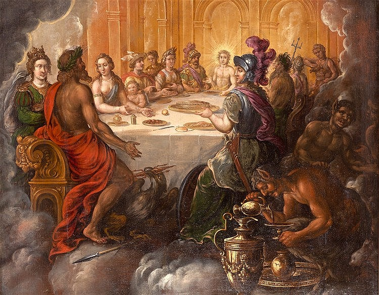 CIRCLE OF JOHN OF THE COURT - THE WEDDING OF PELEUS AND THETIS