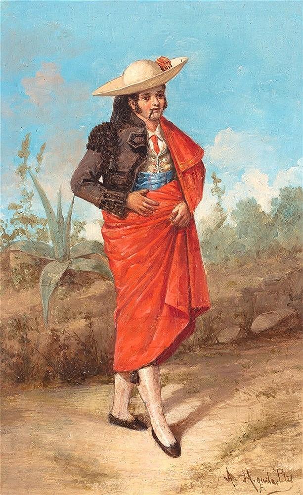 ADOLFO DEL ÁGUILA Y PIMENTEL - PAREJA DE MAJO Y MAJA