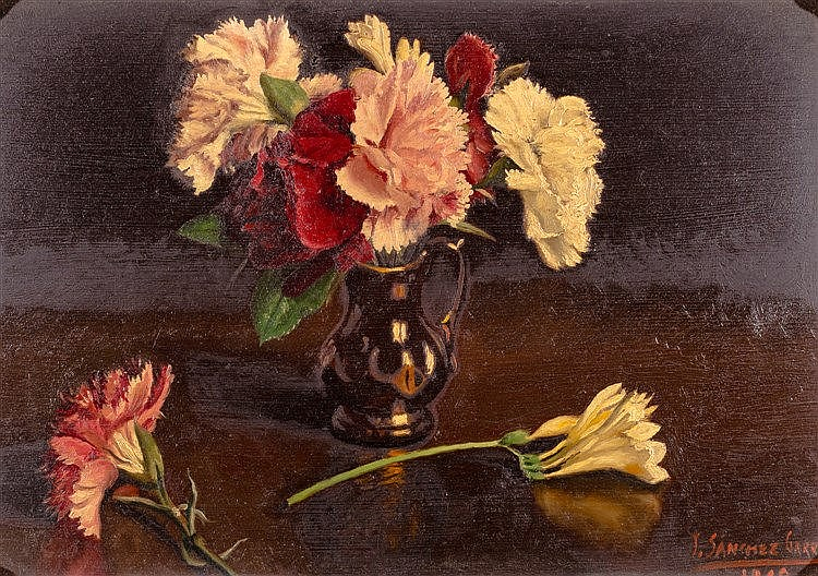 JUAN SANCHEZ GARRIDO -  A PAIR OF VASES