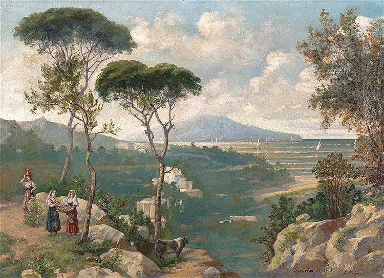JOSÉ HERENCIA SÁNCHEZ, 19TH CENTURY - RECUERDO DE ITALIA