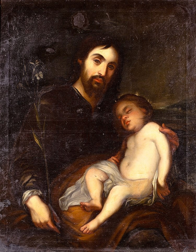 AFTER BARTOLOME ESTEBAN MURILLO - SAN JOSE WITH CHILD