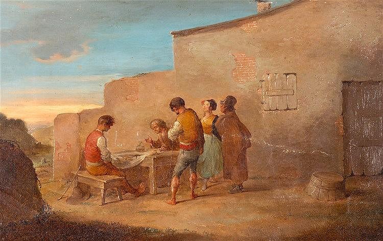 ATTRIBUTED TO LEONARDO ALENZA NIETO (MADRID, 1807-1845) - ESCENA COSTUMBRISTA