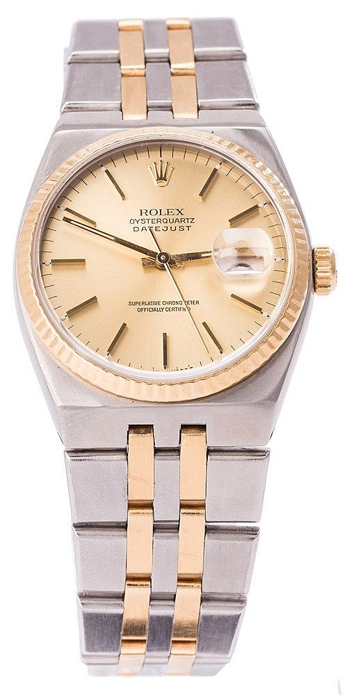 ROLEX OYSTER QUATRZ DATE JUST WRISTWATCH