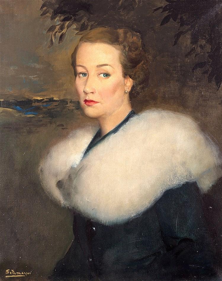 FERNANDO ALVAREZ SOTOMAYOR Y ZARAGOZA - PORTRAIT OF A LADY