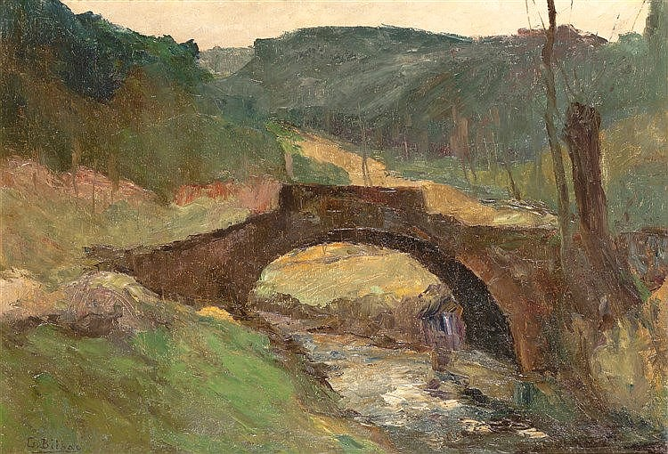 GONZALO BILBAO MARTÍNEZ -LANDSCAPE WITH BRIDGE
