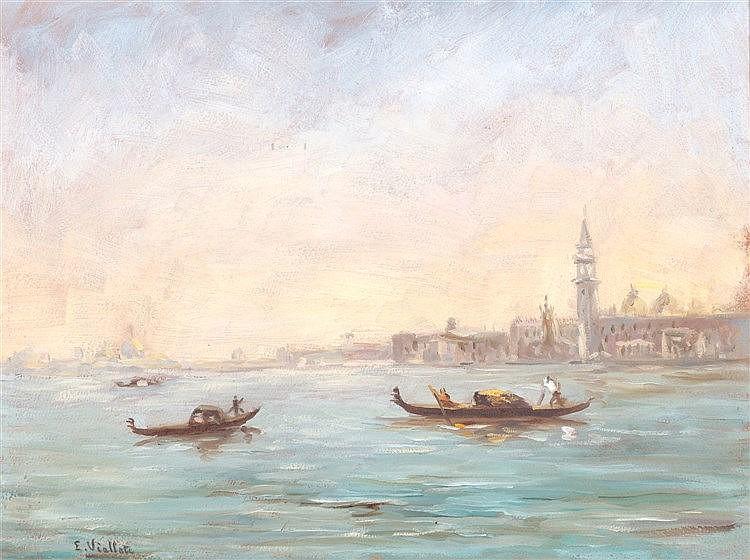 E. VIALLATE (20TH CENTURY) - VISTA DE VENECIA