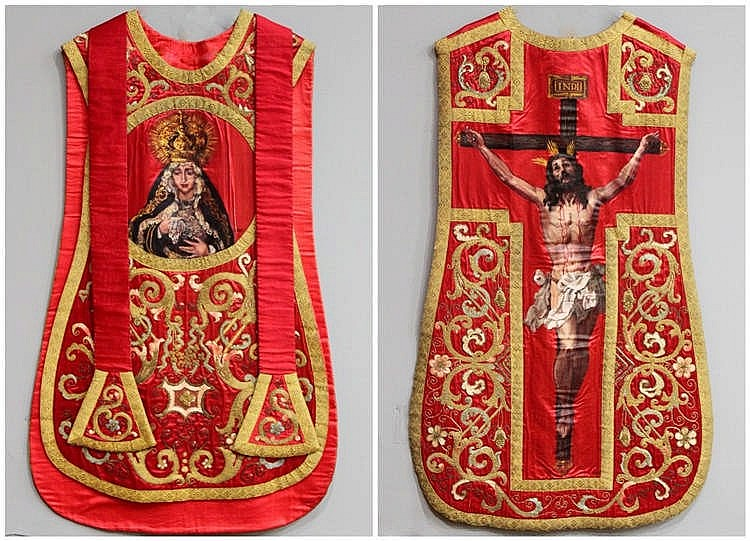 A CHASUBLE,  BY ALFONSO GROSSO (1893-1983)