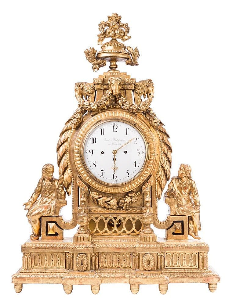 AN AUSTRIAN TABLE CLOCK, FIRST HALF 19TH CENTURY