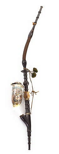 A GERMAN PIPE, 19TH CENTURY