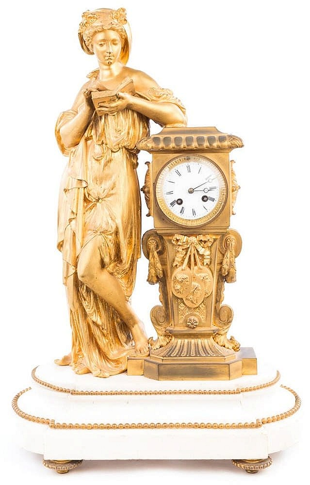 A FRENCH TABLE CLOCK, LATE 19TH CENTURY