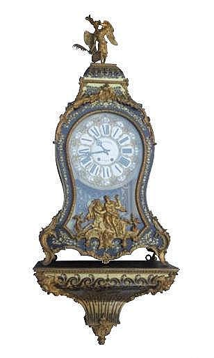 A FRENCH NAPOLEON III WALL CLOCK, EARLY 19TH CENTURY