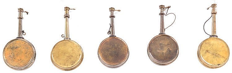 FIVE BLACK POWDER DISPENSERS