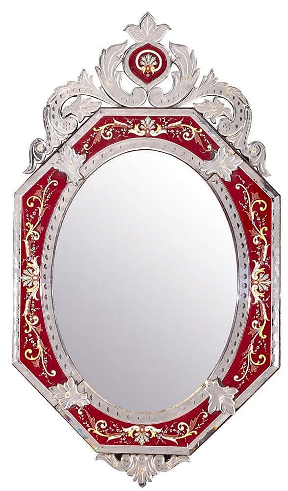 A VENETIAN MIRROR, LATE 19TH CENTURY