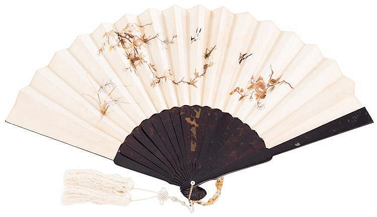 A CHINESE HAND FAN, SECOND HALF 19TH CENTURY
