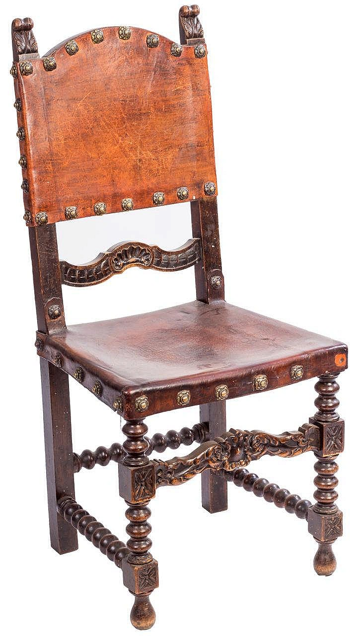 A SET OF SIX RENAISSANCE STYLE CHAIRS, 19TH CENTURY