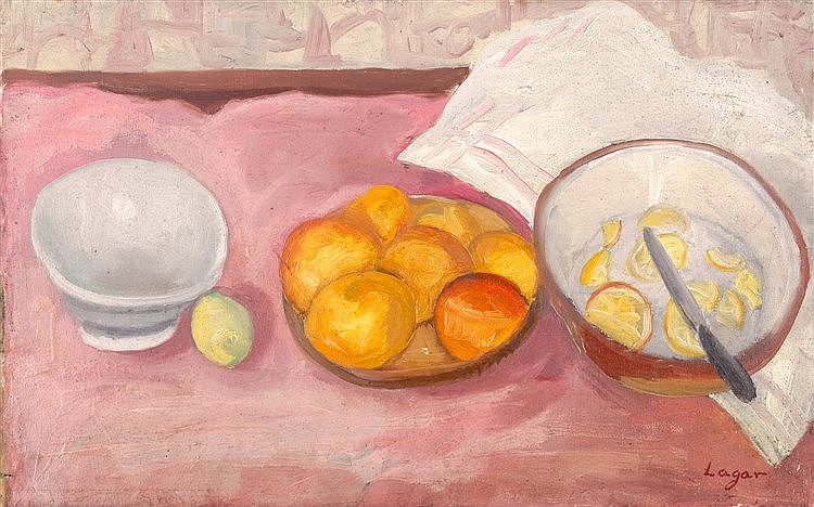 CELSO LAGAR - STILL LIFE WITH ORANGES