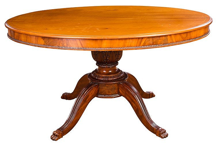 A MAHOGANY TIP-TOP TABLE