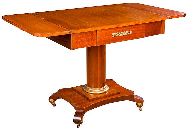 A DROP-LEAF TABLE, 20TH CENTURY