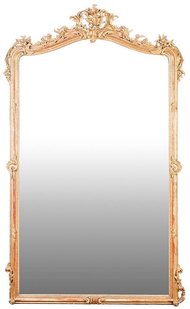 AN ELIZABETHAN MIRROR, 19TH CENTURY
