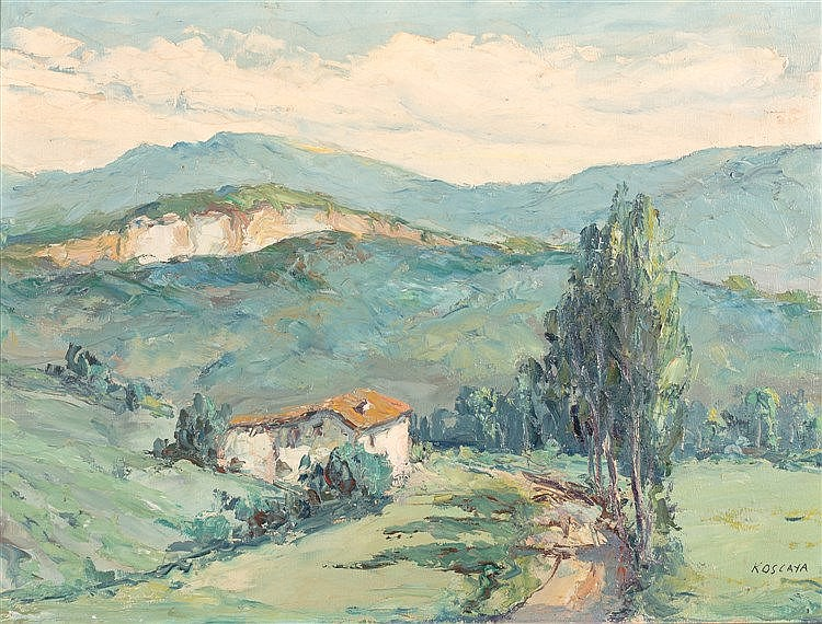 ENRIQUE  KOSCAYA - LANDSCAPE WITH ROAD