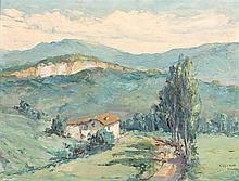 ENRIQUE KOSCAYA - LANDSCAPE WITH ROAD